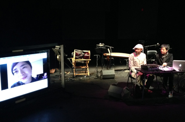 Jinhee and John in conversation with Paul Miller aka Dj Spooky at LaMama theater