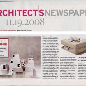 architects newspaper - ordos 100