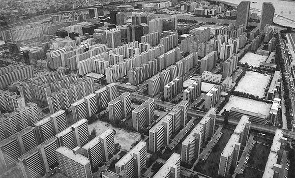 typical korean housing block