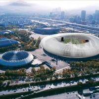 white stadium